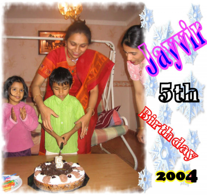 Jayvir 5th Birthday - 2004