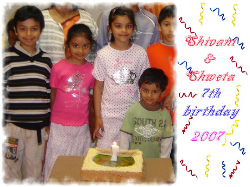 Shivani&Shweta 7th Birthday - 2007